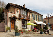 Street Terrace in Barbizon — Stock Photo