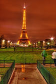 Eifel Tower by Night — Stock Photo