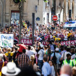 Stock Photo: Le Tour of France Crowd