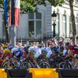 The Peloton in Paris - Stock Photo