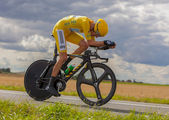 Yellow Jersey- Bradley Wiggins — Stock Photo