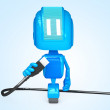 Robot with Usb — Stock Photo