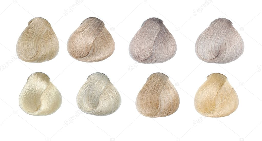 Hair Colors Set. Tints. Isolated on white. — Stock Photo #11382605