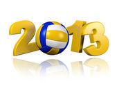 Beach Volleyball 2013 design — Stock Photo