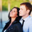 Happy young couple in love - Foto Stock