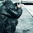 Homeless alcoholic in depression — Stock Photo #11115605
