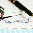 Stock Photo: Business graphs and charts