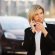 Young businesswoman calling on the phone — Stock Photo #11115628