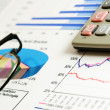 Stock Photo: Financial graphs and charts