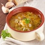 Rassolnik soup — Stock Photo
