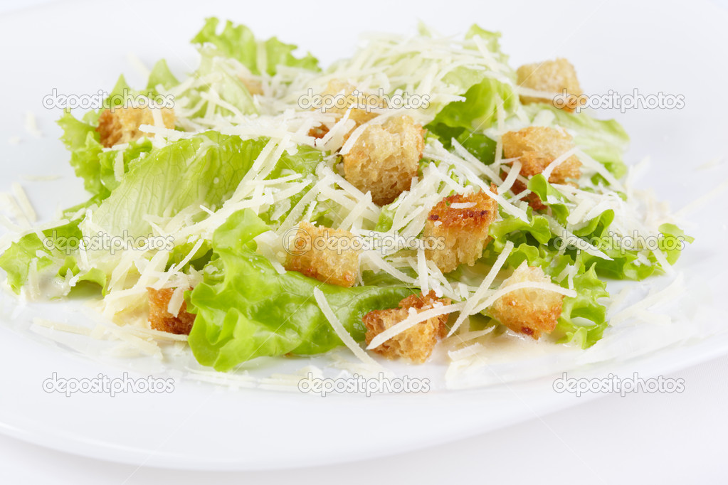 The Caesar salad prepared on the classical recipe — Stock Photo #11441156