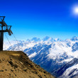 Wonderful view of the cableway in the mountains. — Stock Photo #10771221