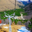 Wonderful view of the cableway in the mountains. — Stock Photo #10771606