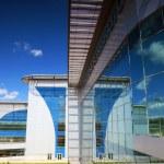 Modern international airport terminal. — Stock Photo
