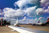Landscape of airfield in Airport. — Stock Photo