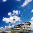 Stock Photo: Old frigate in moorage St.Petersburg, Russia