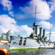 Cruiser Avrora in the city Saintt-Petersburg. Russia — Stock Photo