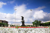Finland Railways station and statue of Lenin,Saint Petersburg — Stock Photo
