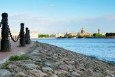 View of Saint Petersburg from Neva river. — Stock Photo