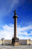 Alexander Column on Palace Square in St. Petersburg — Stock Photo