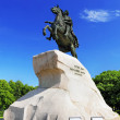 Peter I monument against blue sky. Saint-petersburg — Stock Photo
