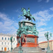 The monument to Nicholas I (1859) in St. Petersburg, Russia - Stockfoto