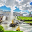 Grand cascade in Pertergof, Saint-Petersburg, Russia. — Stockfoto