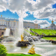 Grand cascade in Pertergof, Saint-Petersburg, Russia. — Photo