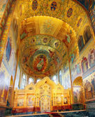 Interior of the Church of the Savior on Spilled Blood in St. Pet — Stock Photo