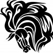 Horse in tribal style - vector illustration. — Stockvectorbeeld