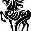 Horse in tribal style - vector illustration. — Imagen vectorial