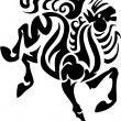 Horse in tribal style - vector illustration. — Stok Vektör