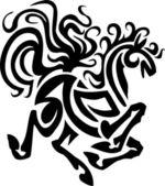 Paard in tribal stijl - vectorillustratie. — Stockvector