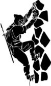Ninja fighter - vector illustration. Vinyl-ready. — Stock Vector
