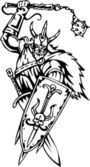 Nordic viking - vector illustration. Vinyl-ready. — Stock Vector