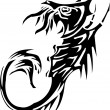 Sea Monster - vector illustration. Vinyl-ready. - Vettoriali Stock