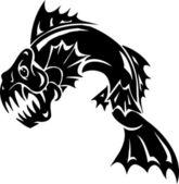Sea Monster - vector illustration. Vinyl-ready. — Stock Vector