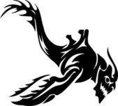 морской монстр - векторные иллюстрации. в кривых. — Cтоковый вектор