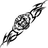 Jaguar and tribals - vector illustration. — Stock Vector