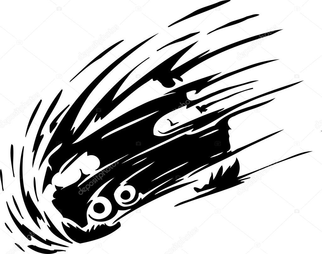 Racing emblem - black and  Race Car Logo Vector