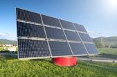 Solar Panel Station — Stock Photo