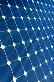 Solar Panel with sunshine — Stock Photo
