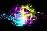 Light effect background — Stock Vector