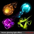 Vector light symbols — Stock Vector