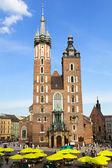 St. Mary's Church, famous landmark in Krakow — Stock Photo