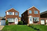 Modern english brick house — Stock Photo