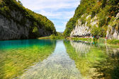 Landscapes from the Plitvice natural Park in Croatia — Stock Photo