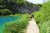 Boardwalk in Plitvice — Stock Photo