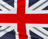 British flag beach towel — Stock Photo