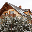New house in winter scenery — Stock Photo